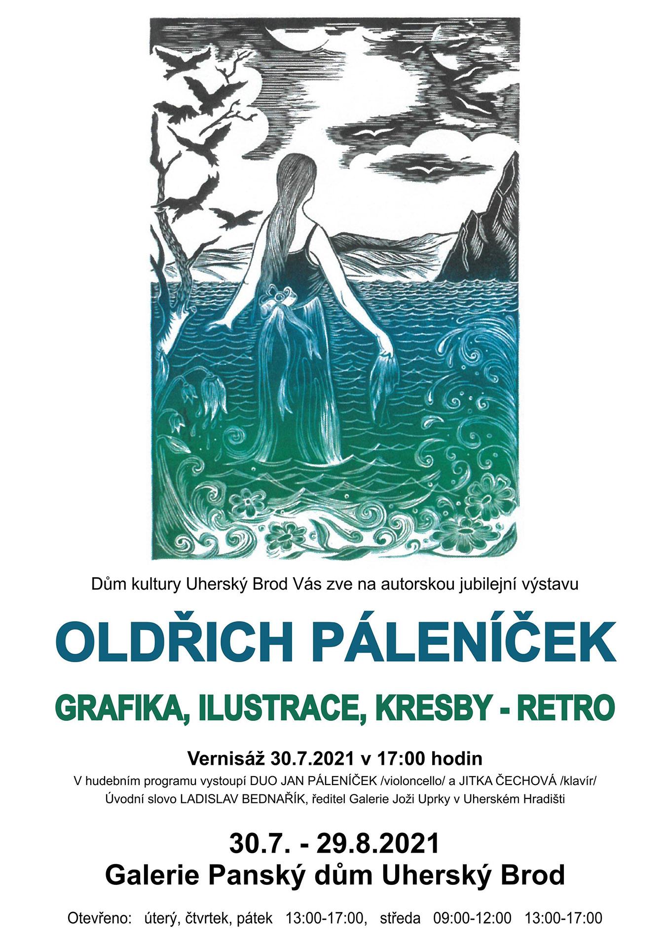 Oldřich Páleníček - grafika, ilustrace a kresby